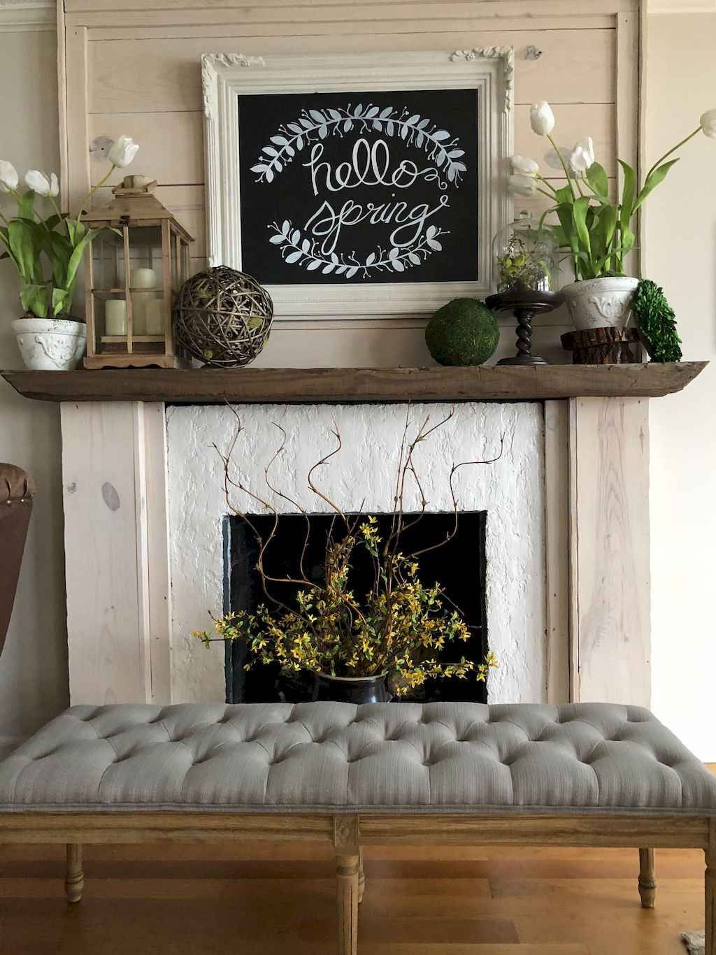 mantel decor for spring
