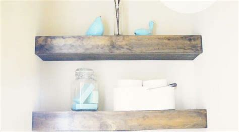 Rustic floating shelves from reclaimed wood