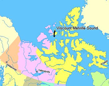 Viscount Melville Sound in Northwest Passage