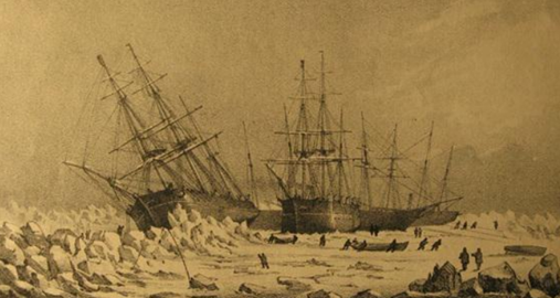 HMS Resolute trapped in ice